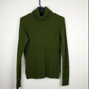 J. CREW Turtleneck Long Sleeve Sweater Green Small